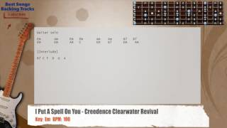 I Put A Spell On You - Creedence Clearwater Revival Guitar Backing Track with chords and lyrics
