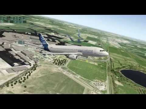 X-PLANE 10.41 Airbus A320 LIRF roma fumicino TAKEOFF CIRCLING AND LANDING PASSENGER APPLAUSE