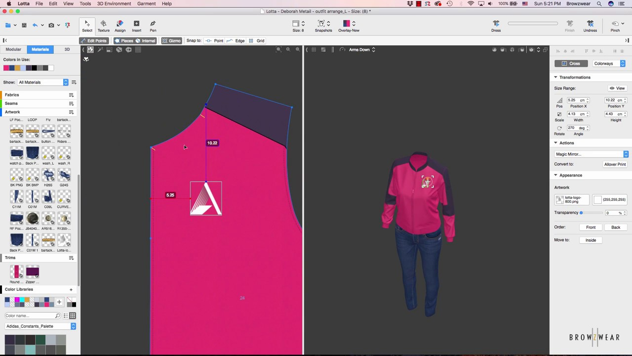 How to design a Jacket in 3D using CAD 3D