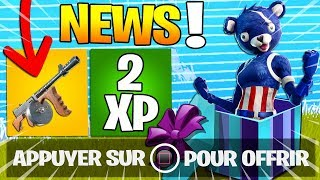INFOS SAISON 5, DOUBLE XP, OFFER SKINS, NEW ARME on Fortnite: Battle Royale