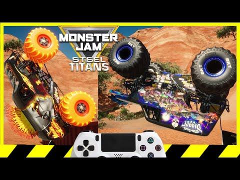 Monster Jam Steel Titans Every Monster Truck Video Game Backflip Championship |