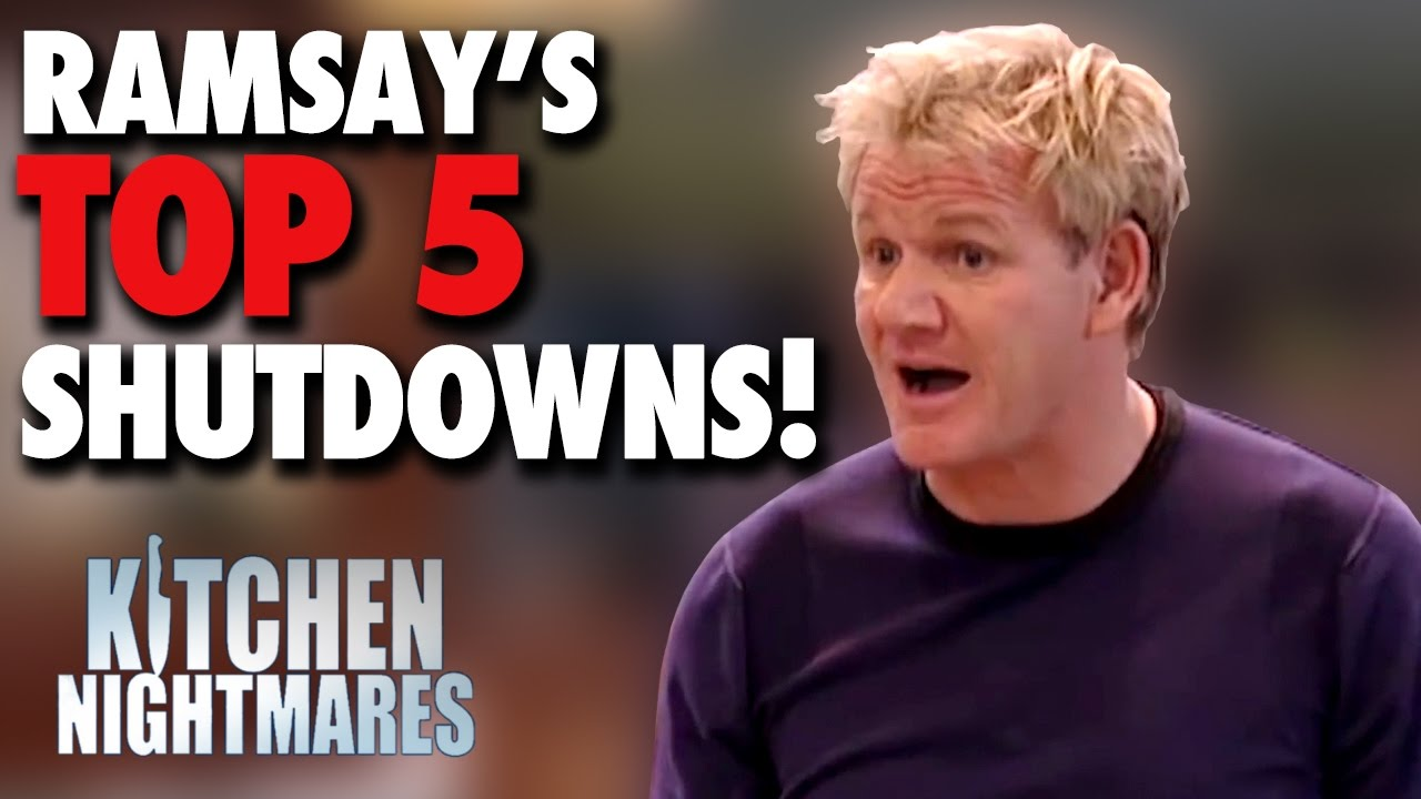 Gordon ramsay 39 s top 5 shutdowns kitchen nightmares doovi for Q kitchen nightmares