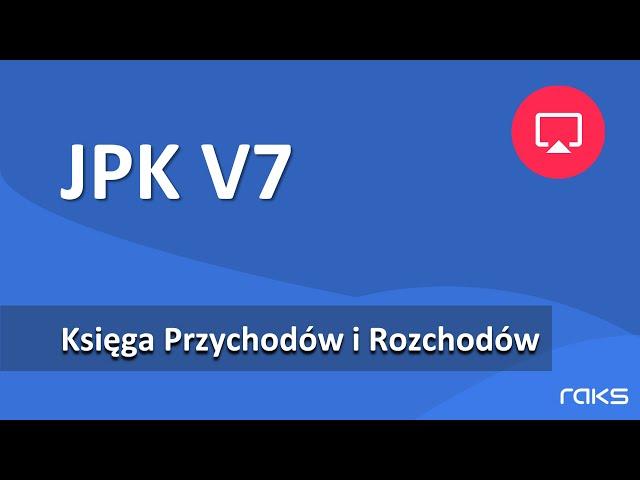 KPiR - alternatywny sposób uzupełniania danych JPK V7