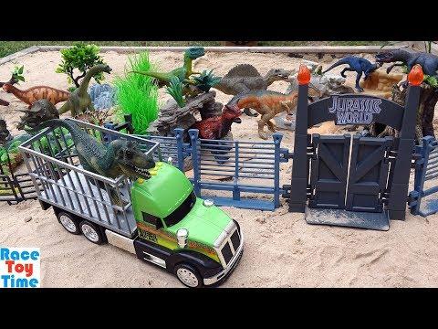 Toy Dinosaur Park Adventure - Learn Dinosaur Toys Names For Kids Video