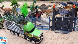 Toy Dinosaur Park Adventure - Learn Dinosaur Toys Names For Kids Video