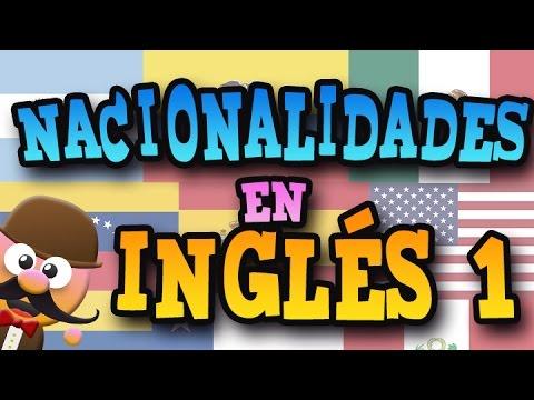 Banderas del mundo con nombres en ingles y nacionalidad