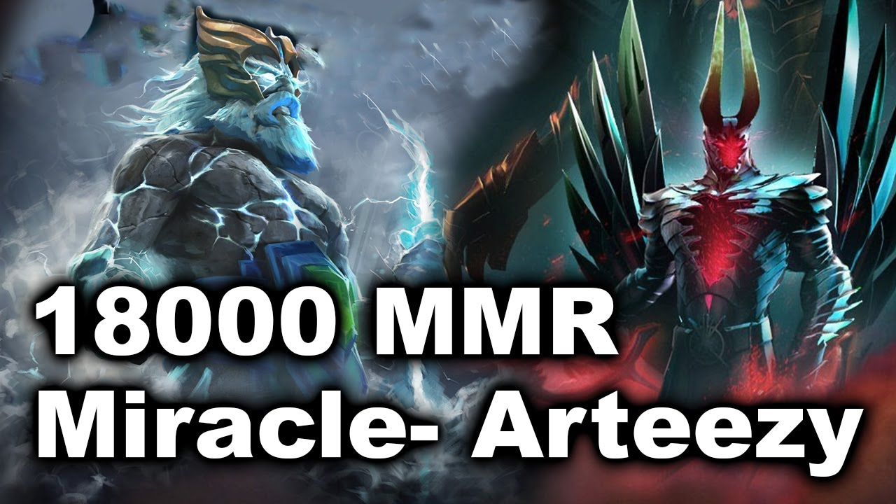Miracle- Arteezy 18000 MMR vs Sumail Fear Moon PPD NEL Dota 2