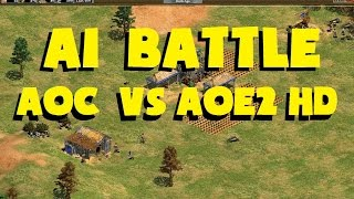 1v1 battle between the original Age of Conquerors computer and the ...