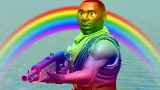 フォートナイトで虹色スキンチャレンジ。