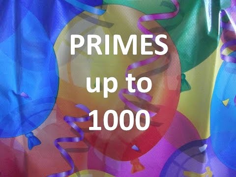 Prime number up to 1000