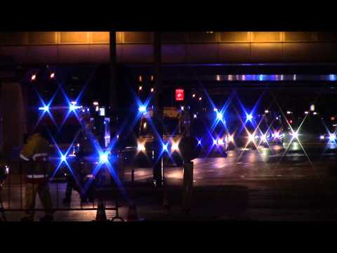 Large Ambulance convoy Responding to VUMC Hospital Amsterdam