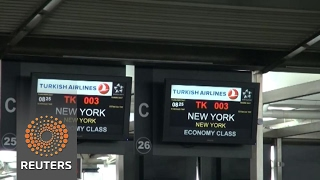 Electronics ban goes into effect for U S  and UK bound flights from Istanbul's Ataturk airport