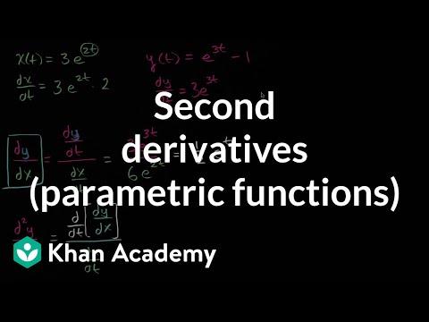 Second derivatives (parametric functions) | Advanced derivatives | AP Calculus BC | Khan Academy