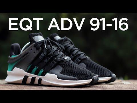 adidas eqt adv black and green