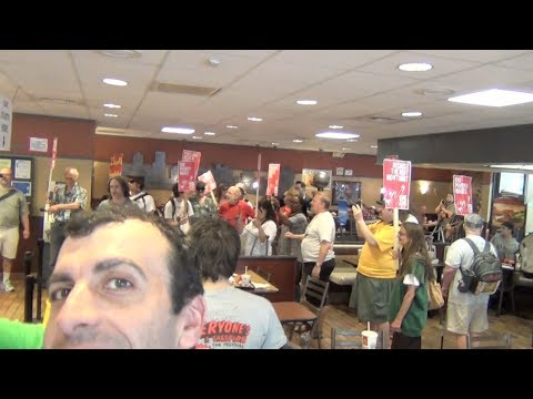 Socialists Stage Protest In McDonald