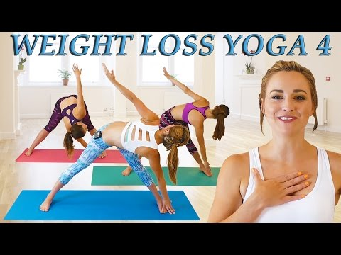 Weight Loss Yoga Day 4 Challenge! Fat Burning 20 Minute Workout Beginners & Intermediate