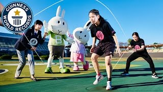 Most Double Dutch-style skips in 30 seconds - Guinness World Records