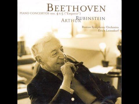 Beethoven Piano Concertros #4 & 5   Rubinstein, Boston Symphony, Leinsdorf