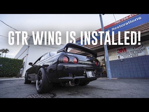 SKYLINE GTR WING IS BACK AND INSTALLED!