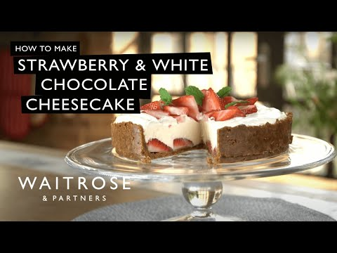 Strawberry and White Chocolate Cheesecake | Waitrose