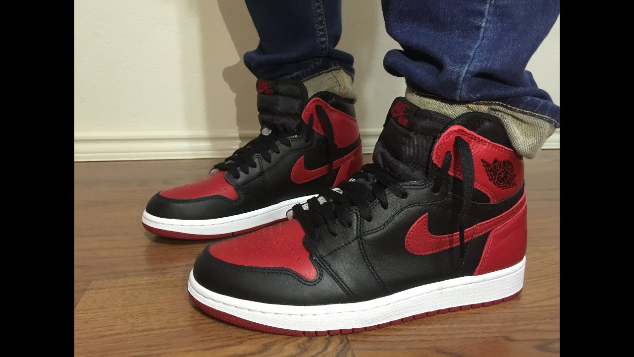 de422934e3ddd0 Jordan Retro 1 BANNED on feet review - YouTube