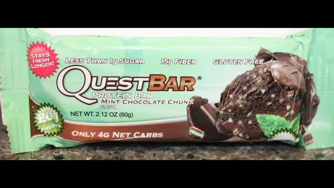 bbad6fce6fa0 Quest Bar  Mint Chocolate Chunk Review - YouTube