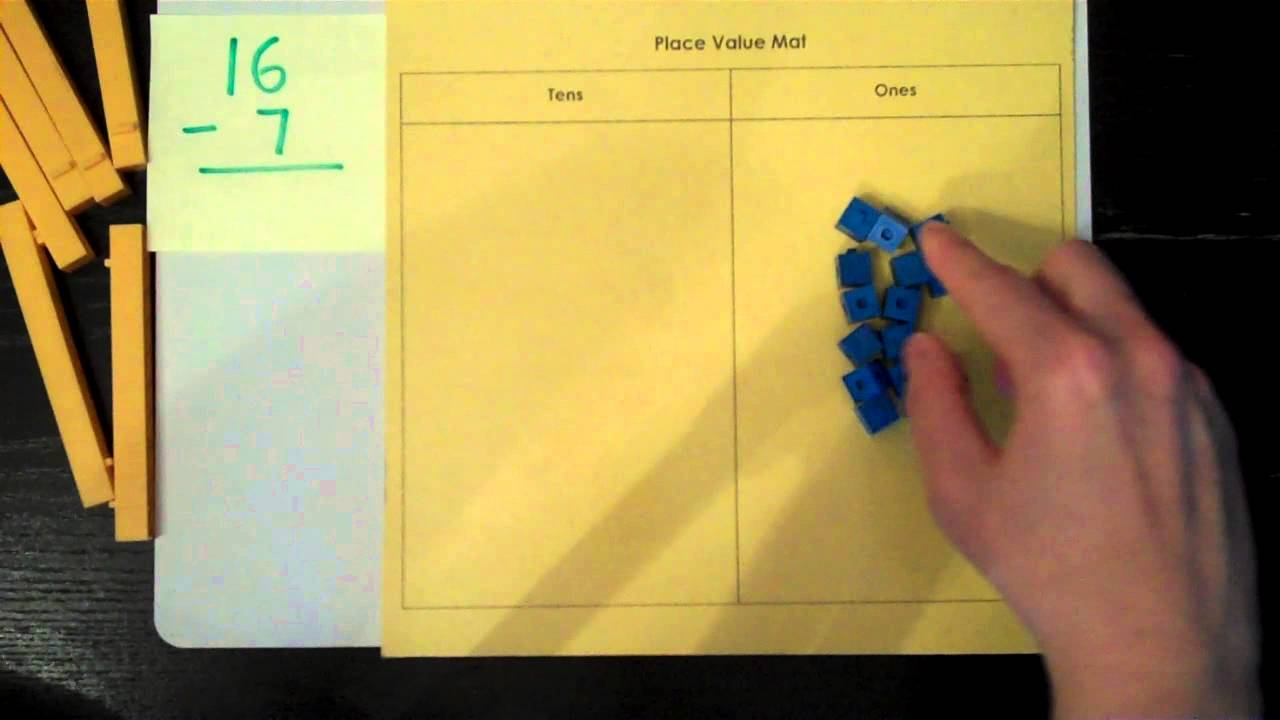 subtraction with regrouping using base ten blocks youtube. Black Bedroom Furniture Sets. Home Design Ideas