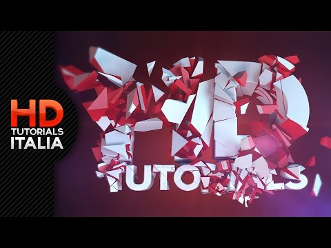 Tutorial Esplosione in Cinema 4D - Exploding Text!!