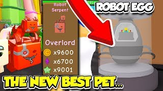 I GOT THE NEW BEST OVERLORD PET FROM ROBOT EGG IN RPG WORLD SIMULATOR!! (Roblox)