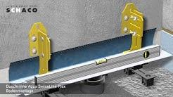 Duschrinne Aqua SwissLine Flex Bodenmontage von SCHACO