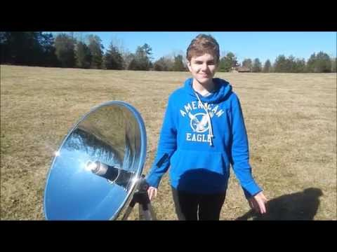 Stirling Engine with Solar Concentrator