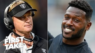 Antonio Brown will expose if Jon Gruden is the right coach for the Raiders - Stephen A. | First Take