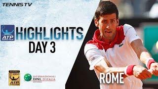 Highlights: Djokovic Dominates, Fabio Earns Win No. 300 In Rome 2018