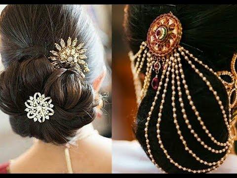 Bridal Hair Pins / Hairchain/ Juda Pin/Bun Pin/ Juda Chain Designs 2017-2018 - YouTube