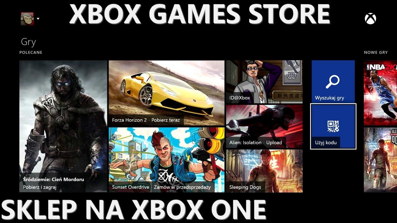 Xbox One - prezentacja sklepu Xbox Games Store (Marketplace PL na XONE)