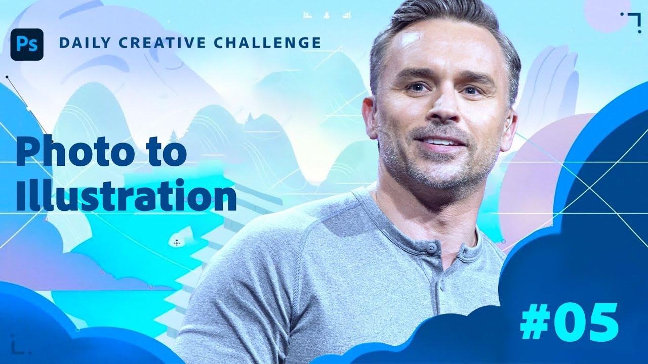 Photoshop Daily Creative Challenge -  Photo to Illustration