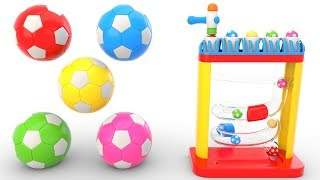 Learning Colors with Soccer Balls - Educational Toys
