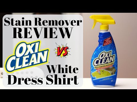 Stain Remover Review: OxiClean on White Dress Shirt? (2019)