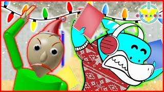 Roblox SANTA BALDI ELF Christmas Edition Let's Play with Big Gil Vs. Alpha Lexa