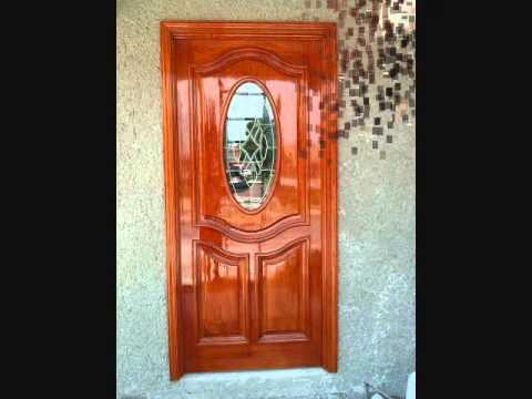 Puertas de maderas minimalistas modernas youtube for Puertas principales modernas en madera