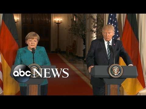 President Trump hosts German Chancellor Angela Merkel