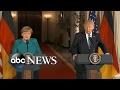 President Trump hosts German Chancellor Angela Merkel