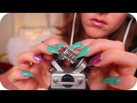 ASMR Delicate Zoom H5 Relaxation (Nail Tapping, Gel Fingertips, Cotton, Brushing) White Noise 😴