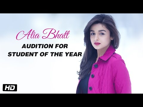 Alia Bhatt - Audition for Student Of The...