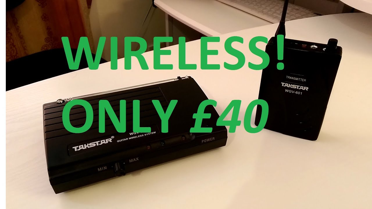 cheap wireless guitar system takstar wgv 601 review and test youtube. Black Bedroom Furniture Sets. Home Design Ideas