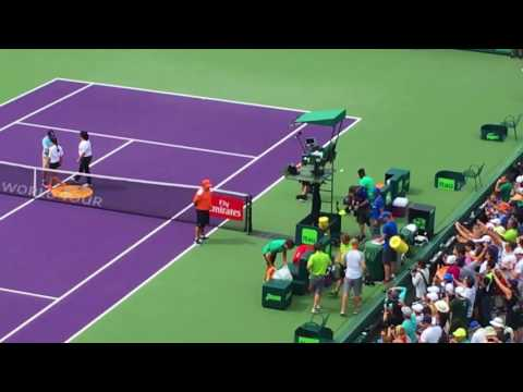 Miami Open 2017   Federer vs. Tiafoe   Players introduction
