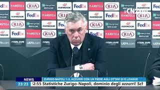 Europa League, Zurigo-Napoli 1-3: Carlo Ancelotti in conferenza stampa post partita