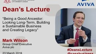 Group CEO Mark Wilson speaks at the Cass Business School 23 March 2016