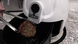 Bacon Wrapped Filet Mignon in Cooks Essentials Air Fryer
