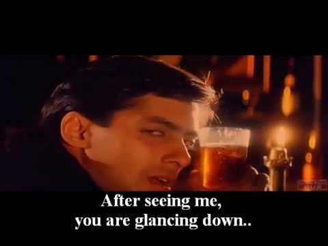 'Jiye To Jiye Kaise' [Full Song]- (Movie: SAAJAN-1991) English Subtitles